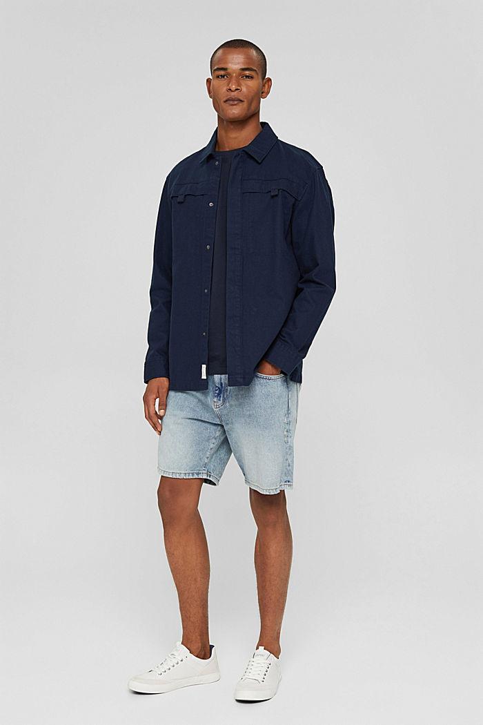 Denim Shorts, BLUE LIGHT WASHED, detail image number 1