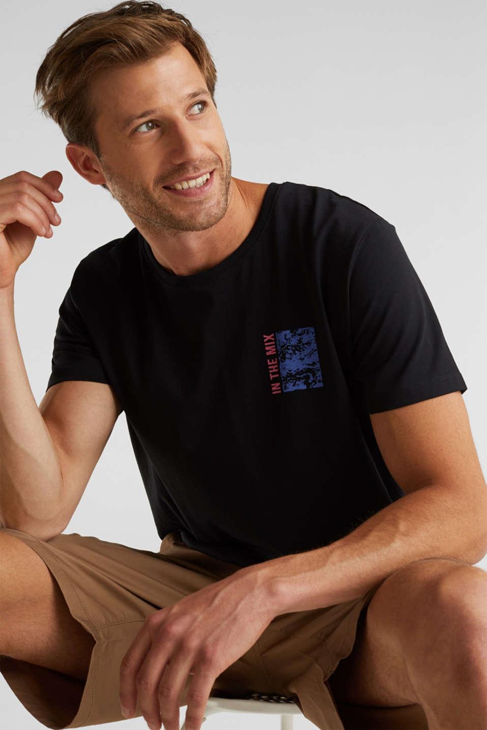 Jersey T-shirt made of 100% organic cotton, BLACK, detail image number 0