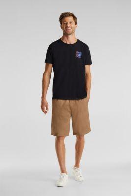 Jersey T-shirt made of 100% organic cotton, BLACK, detail