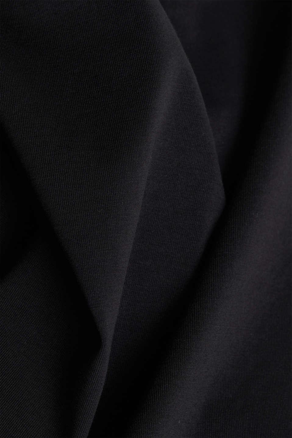 Jersey T-shirt made of 100% organic cotton, BLACK, detail image number 4