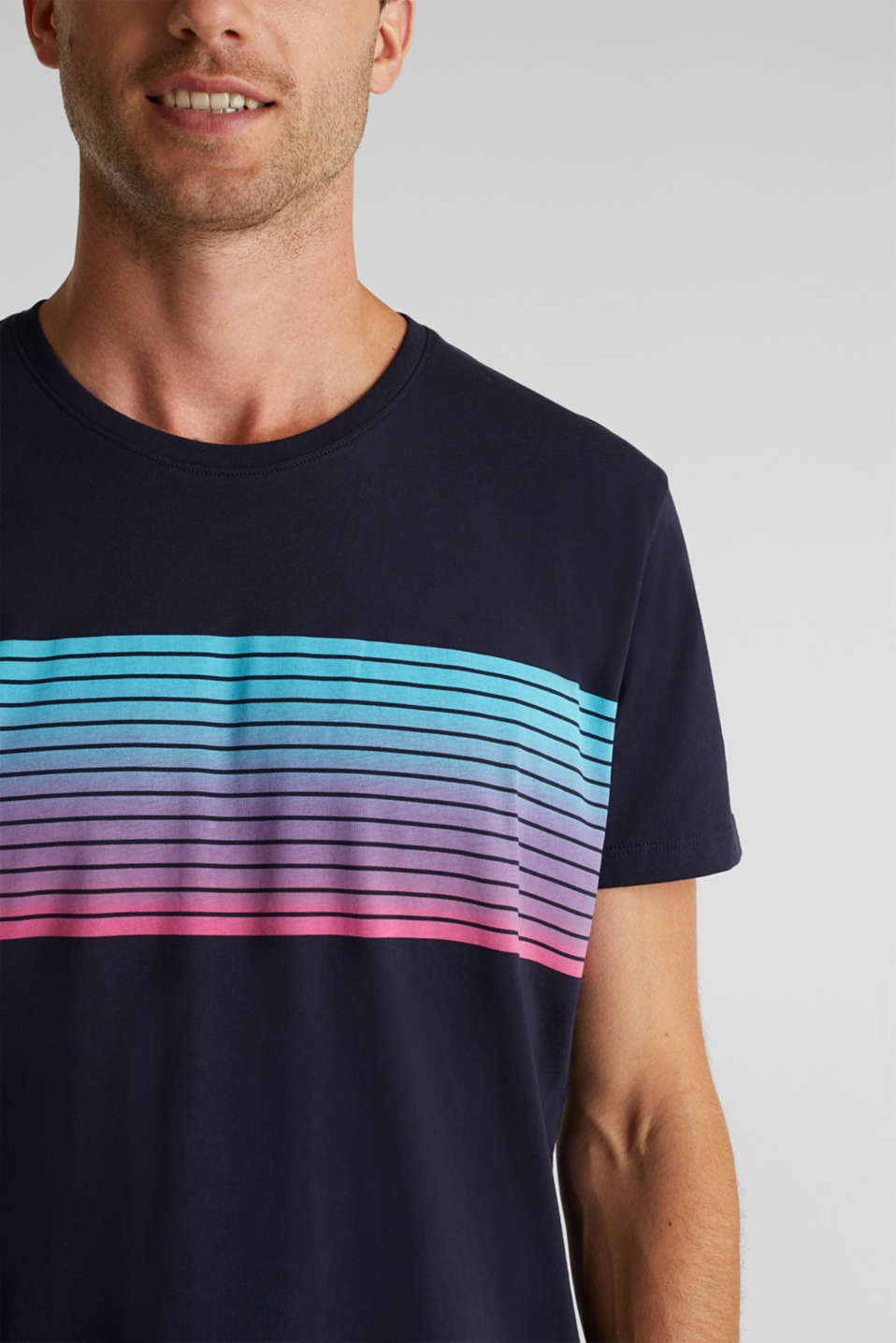 Jersey T-shirt made of 100% organic cotton, NAVY, detail image number 1