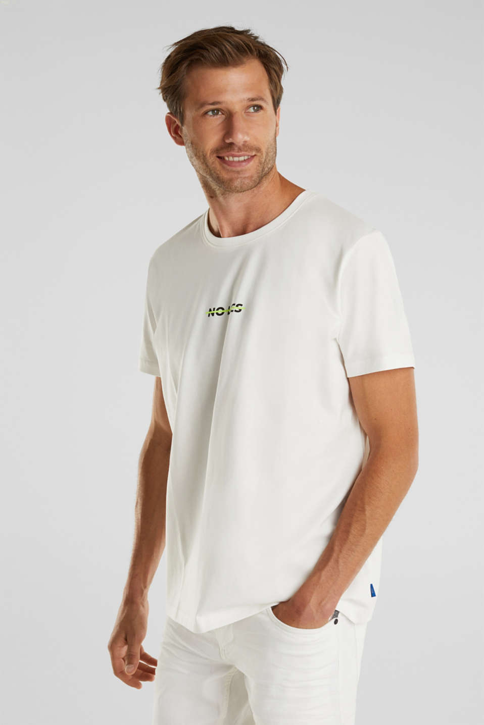 Jersey T-shirt made of 100% organic cotton, OFF WHITE, detail image number 0