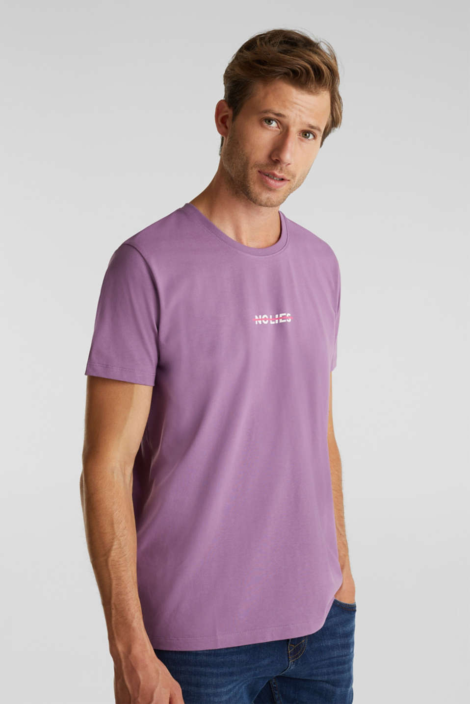 Jersey T-shirt made of 100% organic cotton, LILAC, detail image number 0