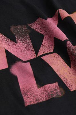 Jersey print top, 100% organic cotton, BLACK, detail