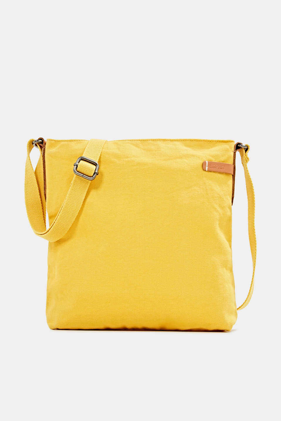 Esprit - Canvas bag with leather details