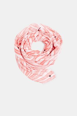 Made of LENZING™ ECOVERO™: Printed scarf, CORAL, detail