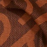 Monogramm-Webschal aus 100% Baumwolle, BROWN COLORWAY, swatch