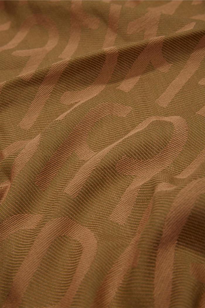 Monogramm-Webschal aus 100% Baumwolle, OLIVE, detail image number 2