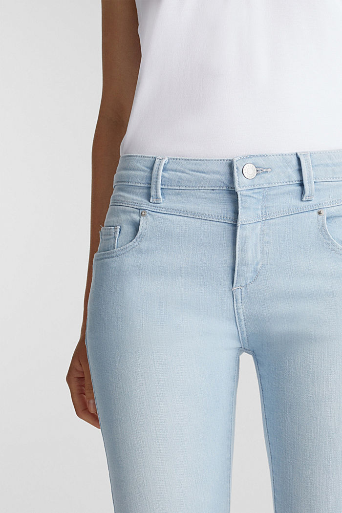 7/8-length jeans with organic cotton, BLUE BLEACHED, detail image number 2