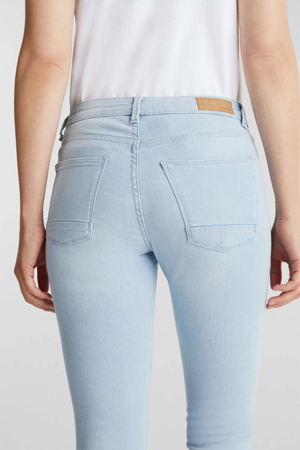 7/8-length jeans with organic cotton, BLUE BLEACHED, detail image number 5