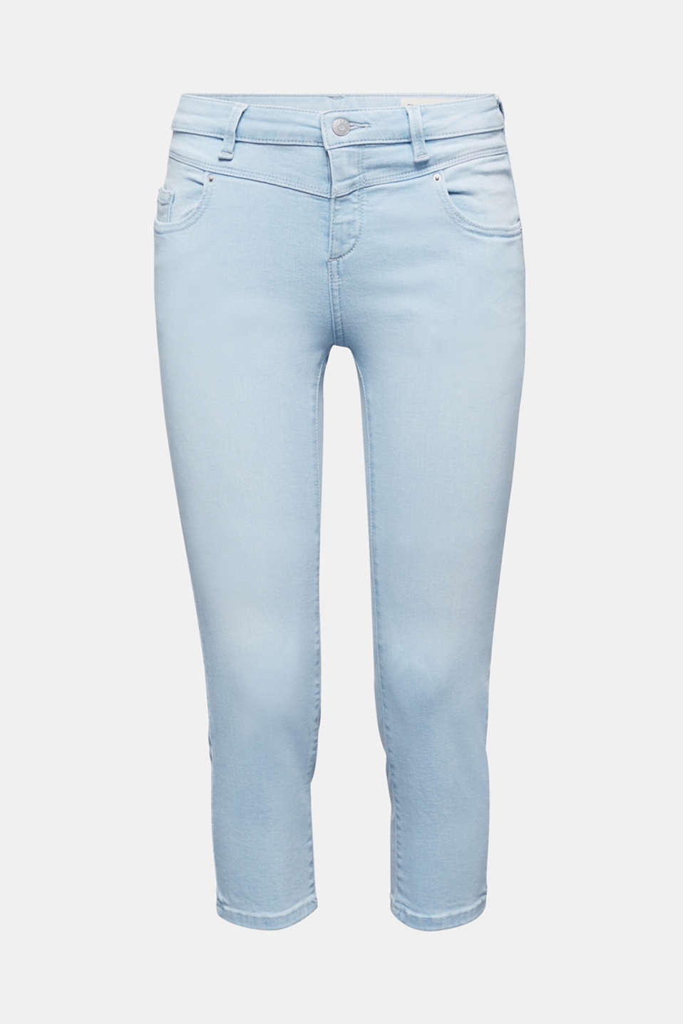7/8-length jeans with organic cotton, BLUE BLEACHED, detail image number 6