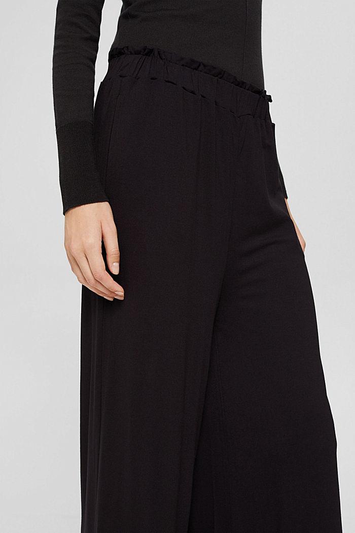 Culotte aus Crêpe-Jersey mit elastischem Bund, BLACK, detail image number 2