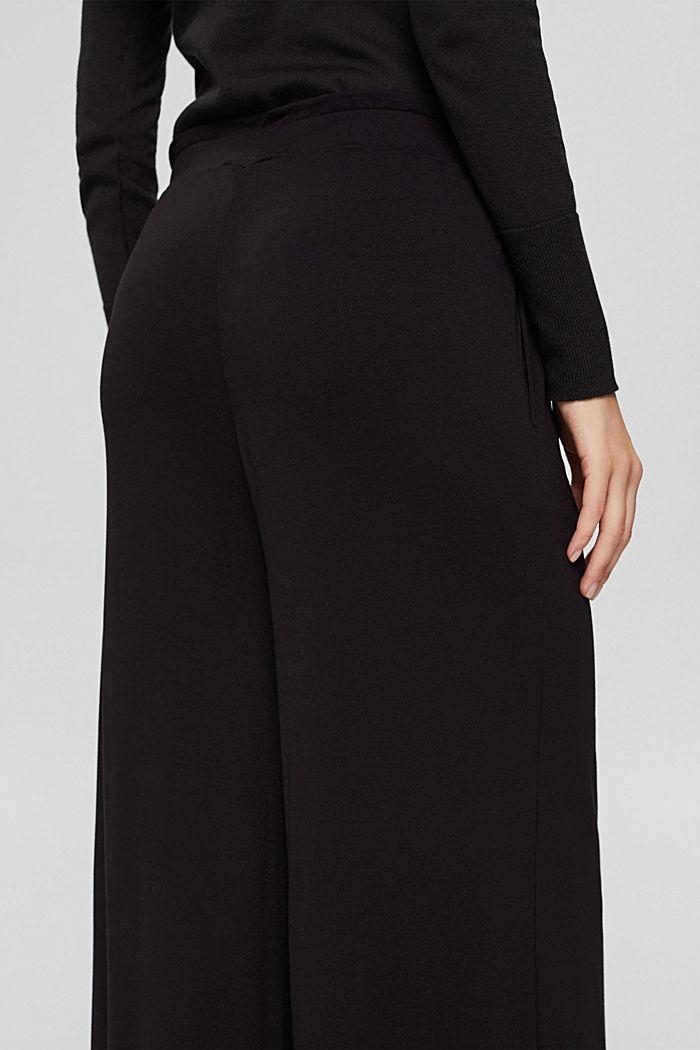 Culotte aus Crêpe-Jersey mit elastischem Bund, BLACK, detail image number 5
