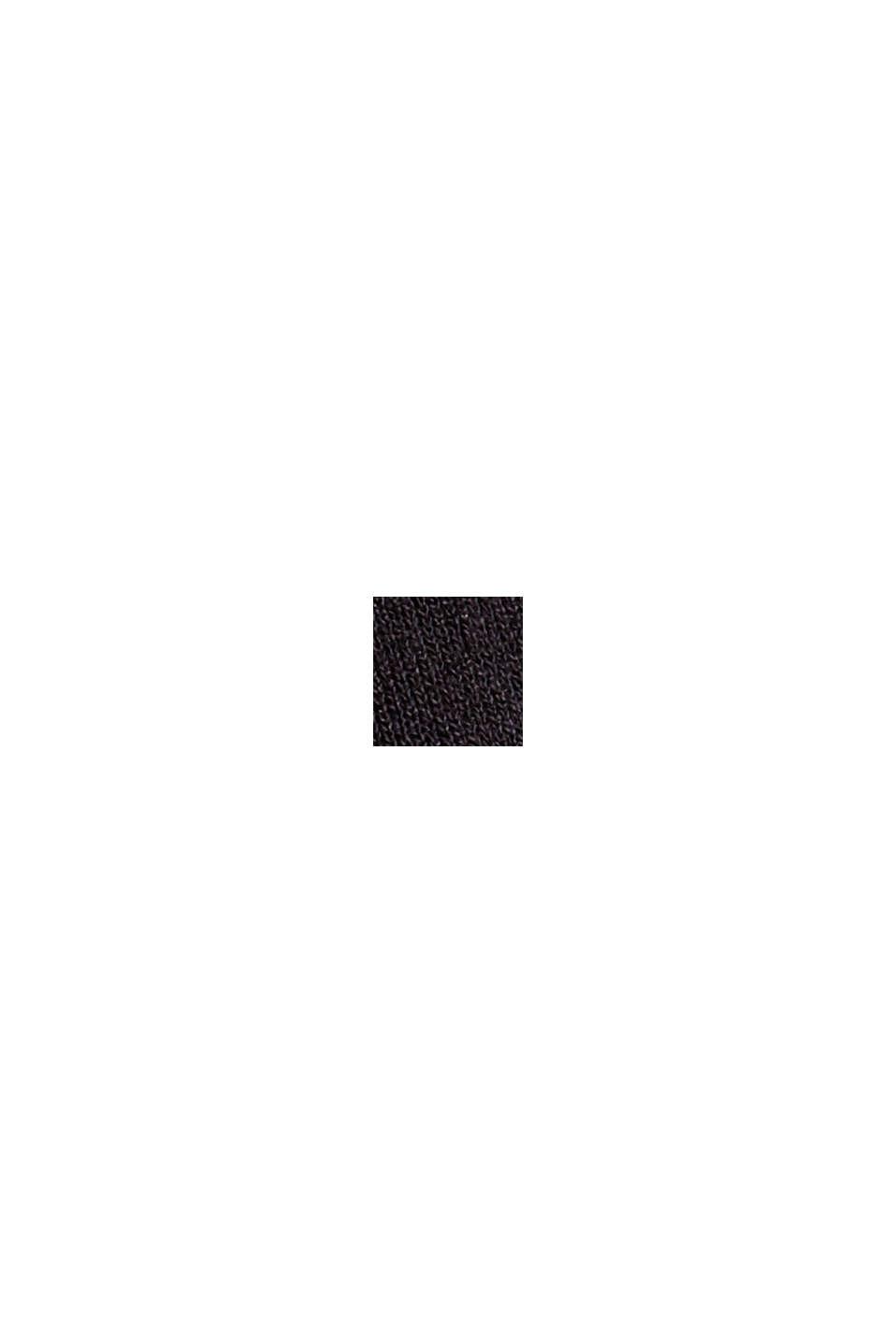 Culottebyxa i crêpejersey med elastisk linning, BLACK, swatch