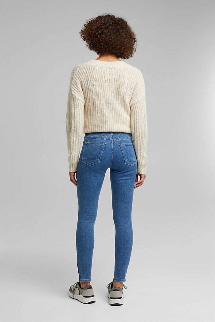 Stretch jeans containing organic cotton, BLUE MEDIUM WASHED, detail image number 3