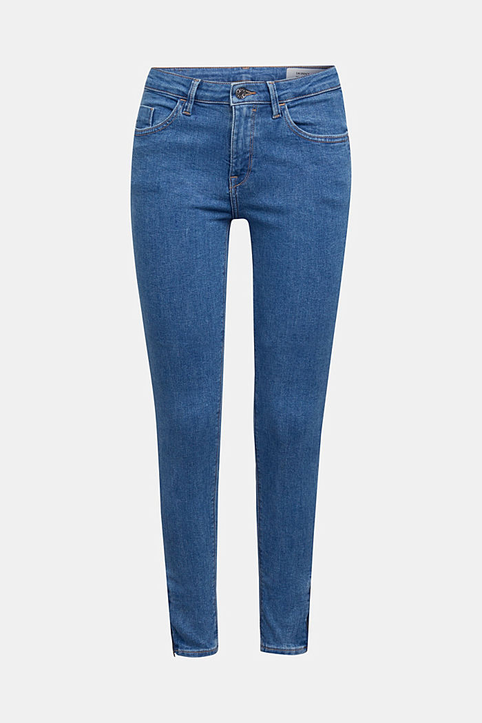 Stretch jeans containing organic cotton, BLUE MEDIUM WASHED, detail image number 6