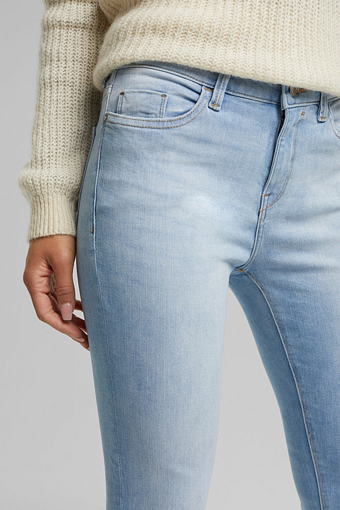 Stretch jeans containing organic cotton, BLUE BLEACHED, detail image number 2