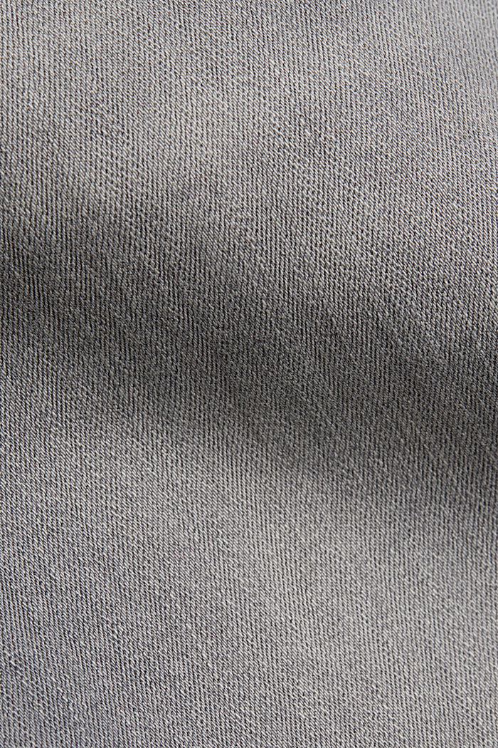 Stretchjeans met biologisch katoen, GREY MEDIUM WASHED, detail image number 4