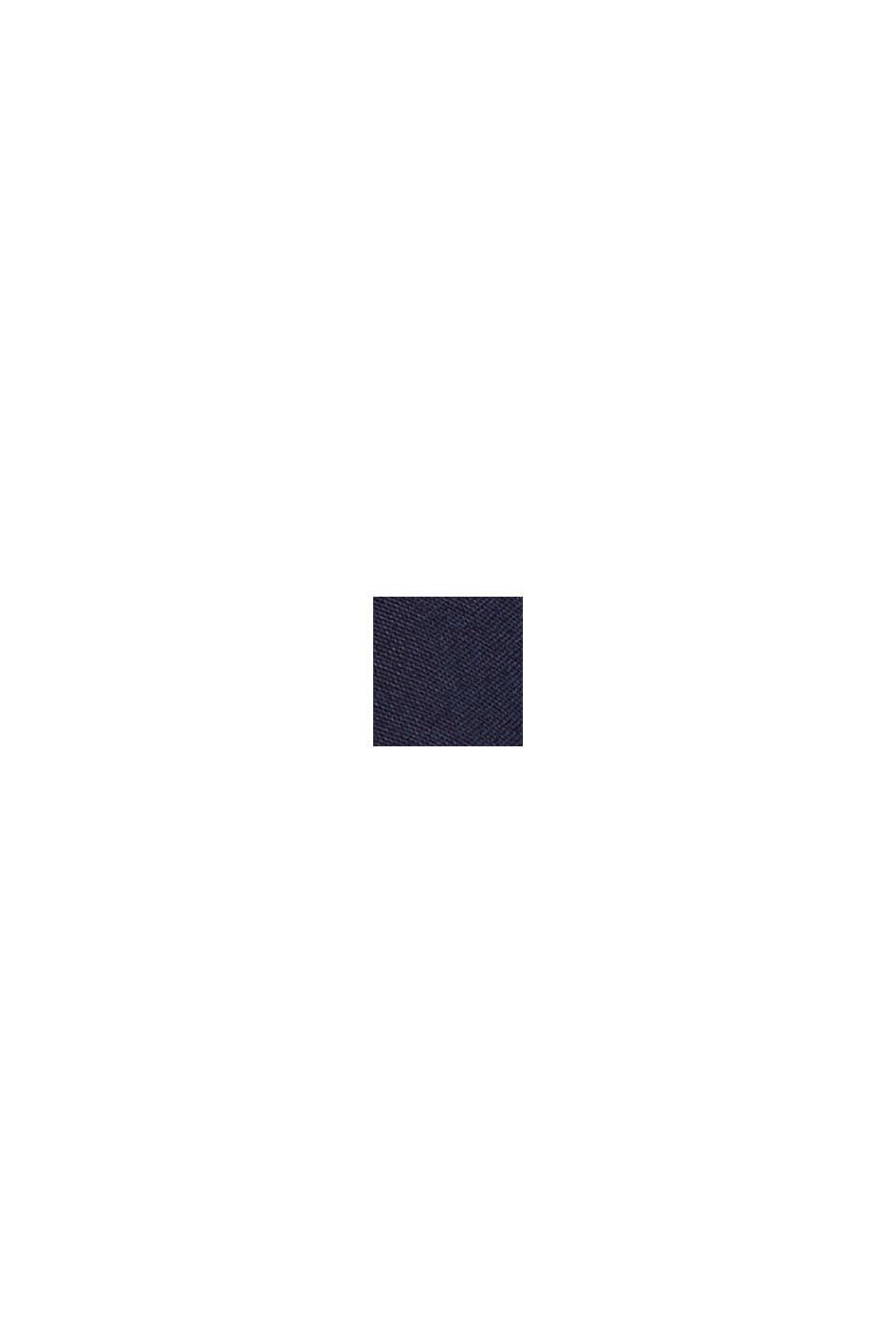 Cropped paperbagbroek met wijde pijpen, NAVY, swatch