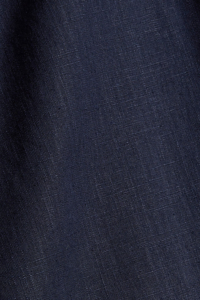 En coton bio et chanvre: la jupe-culotte à cordon de serrage, NAVY, detail image number 4
