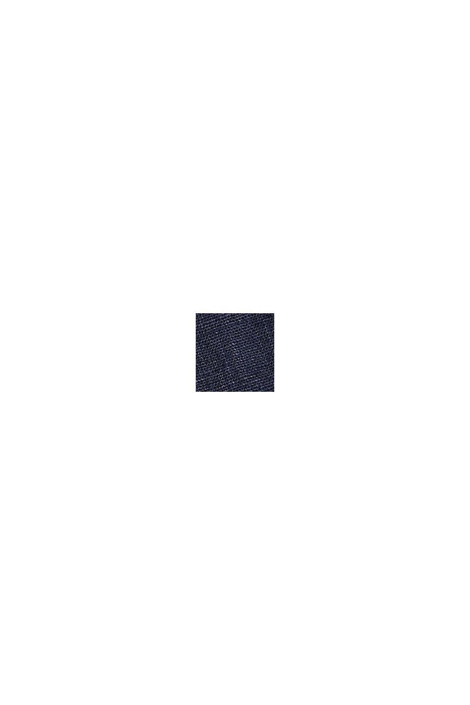 I hampa/ekologisk bomull: culottebyxa med dragsko, NAVY, swatch
