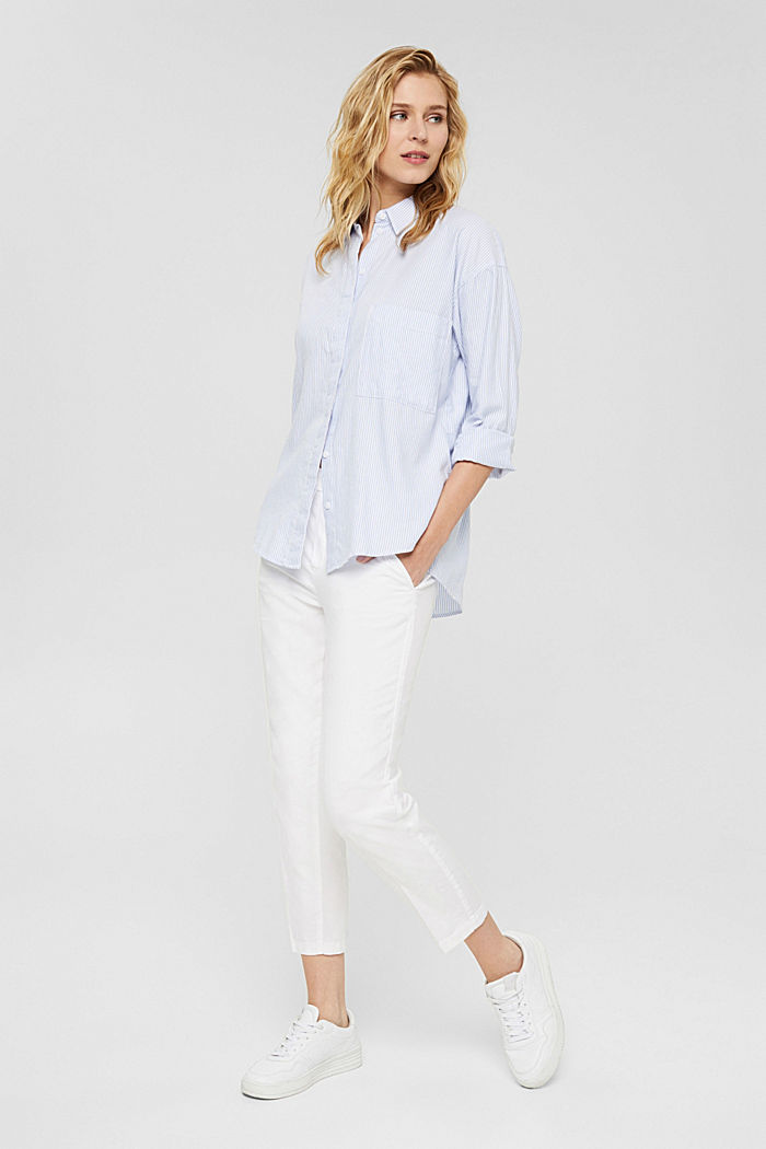 Met linnen: 7/8-chino zonder sluiting, WHITE, detail image number 1