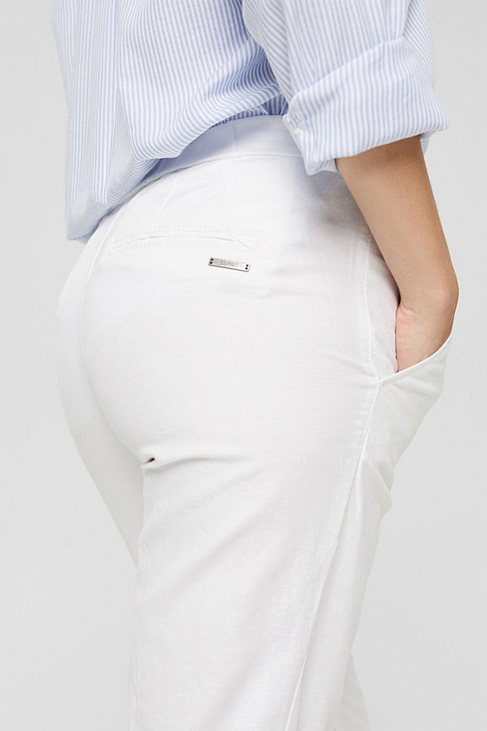 Met linnen: 7/8-chino zonder sluiting, WHITE, detail image number 2