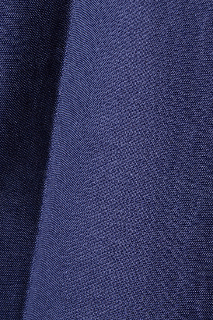 Linen blend: pull-on 7/8 chinos, INK, detail image number 4