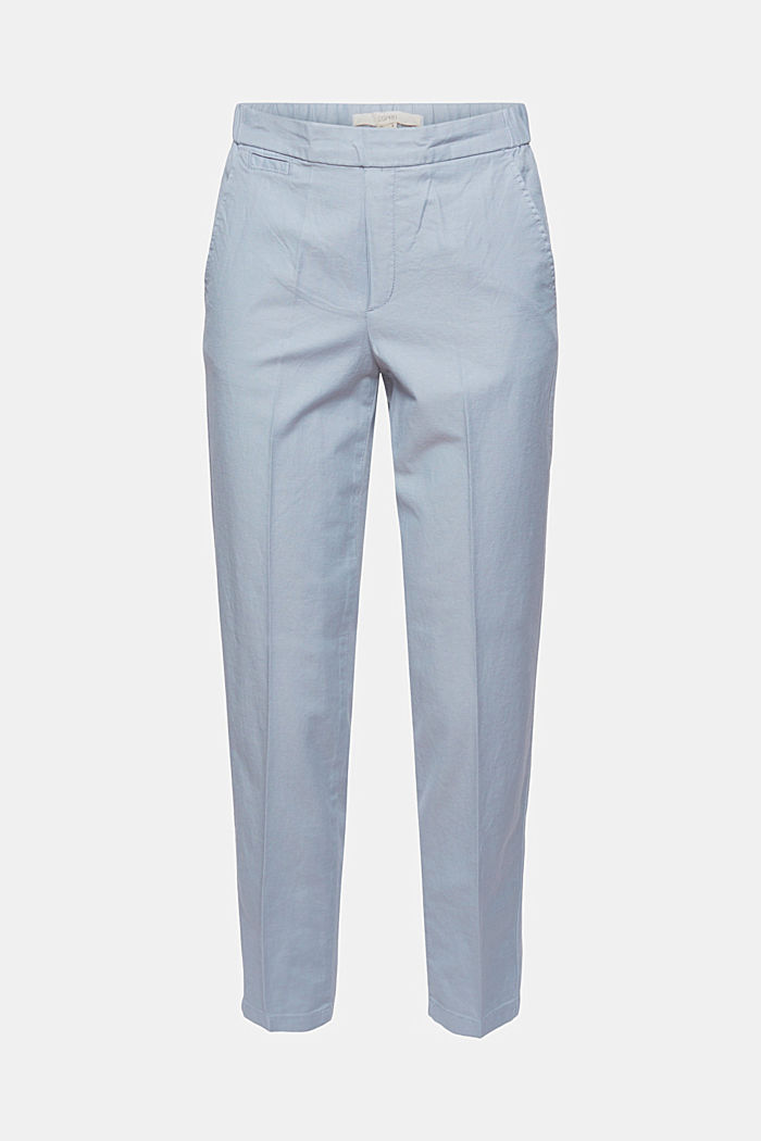 Linen blend: pull-on 7/8 chinos