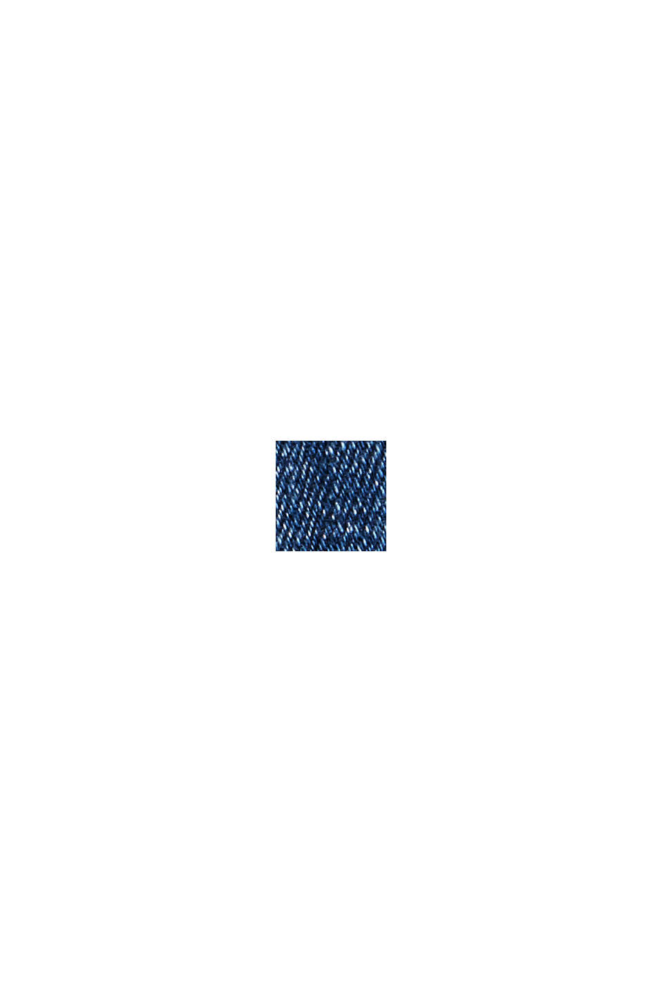Capri-Jeans aus Bio-Baumwoll-Mix, BLUE MEDIUM WASHED, swatch