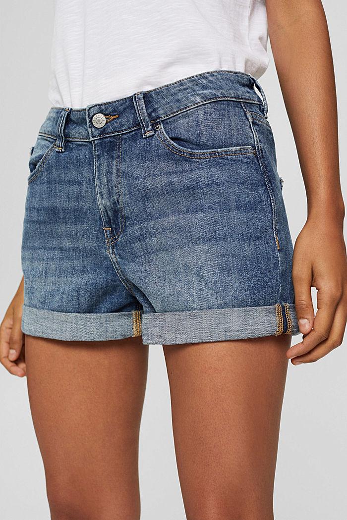 Denim shorts made of organic cotton, BLUE MEDIUM WASHED, detail image number 2
