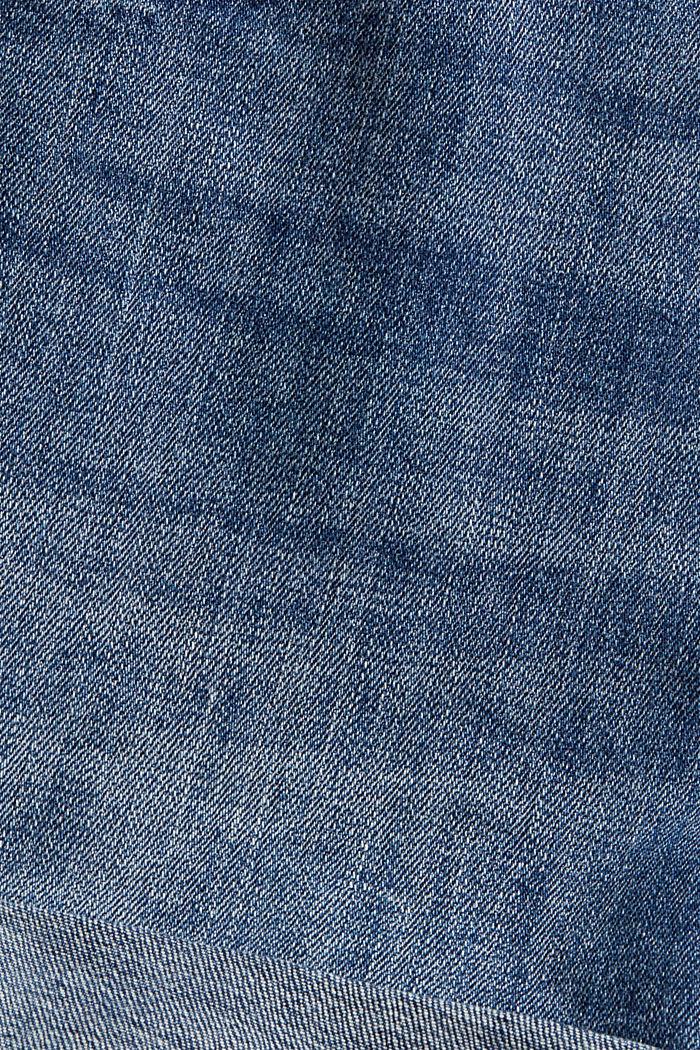 Denim shorts made of organic cotton, BLUE MEDIUM WASHED, detail image number 4