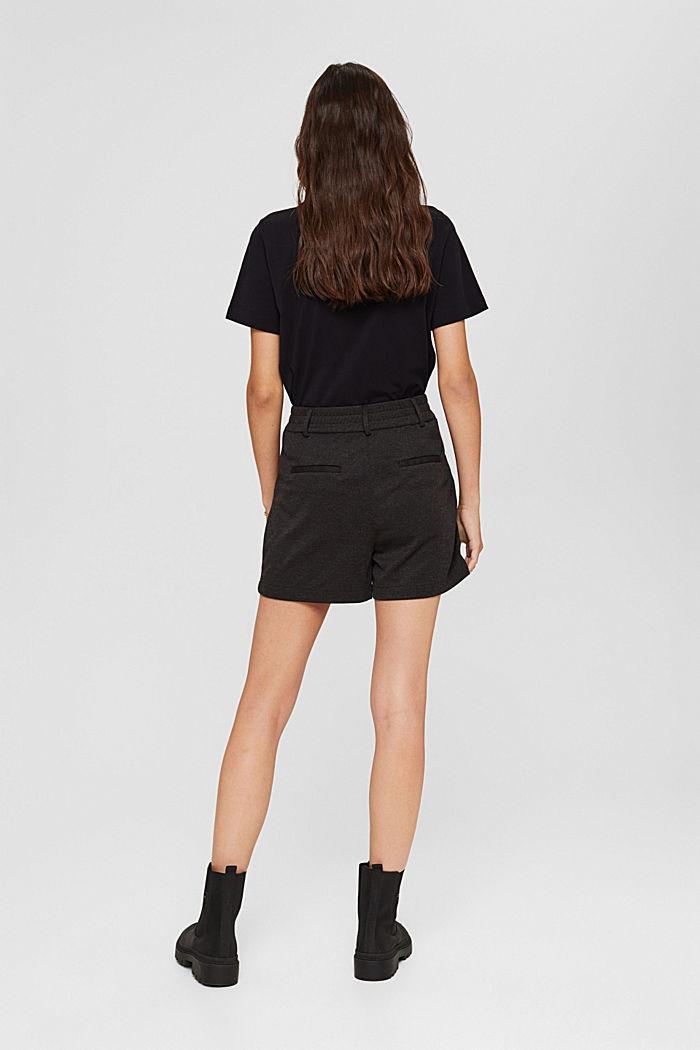 Shorts de tela con cintura elástica, ANTHRACITE, detail image number 3
