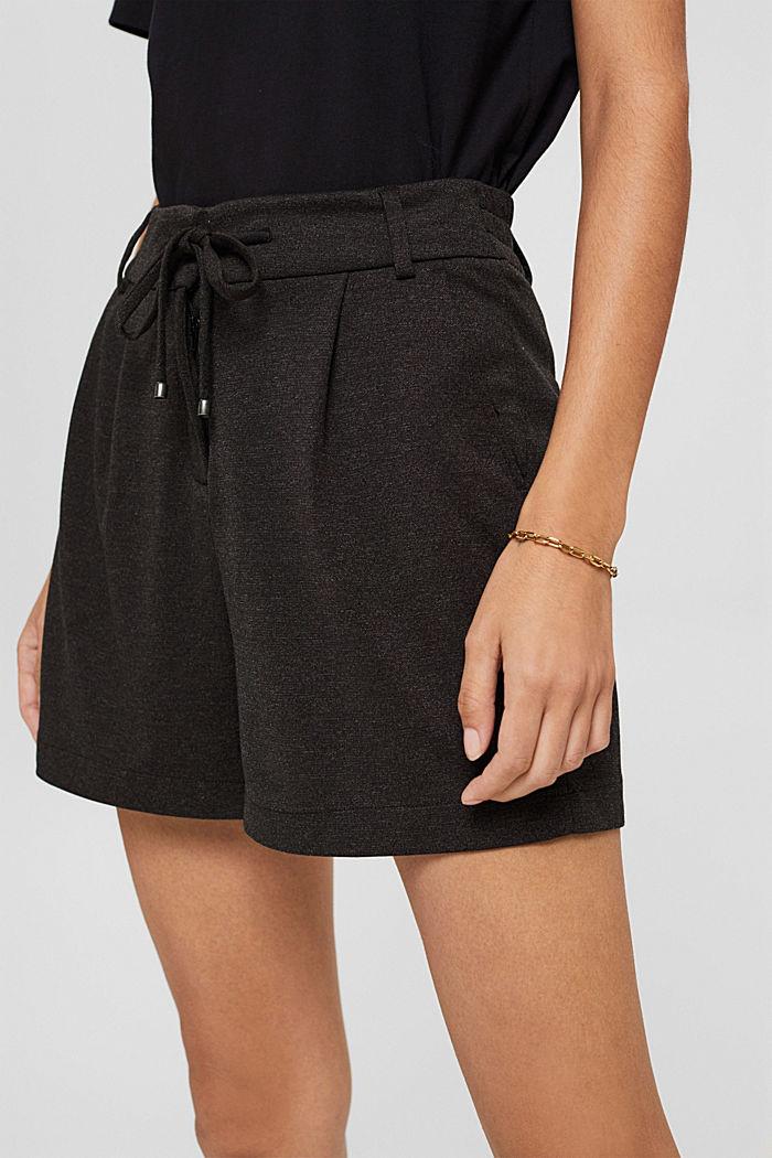 Shorts de tela con cintura elástica, ANTHRACITE, detail image number 2