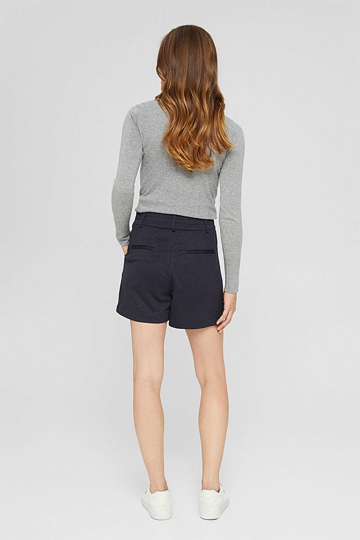 Shorts de tela con cintura elástica, NAVY, detail image number 3
