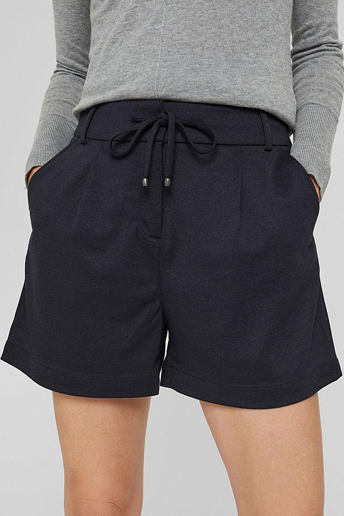 Shorts de tela con cintura elástica, NAVY, detail image number 2