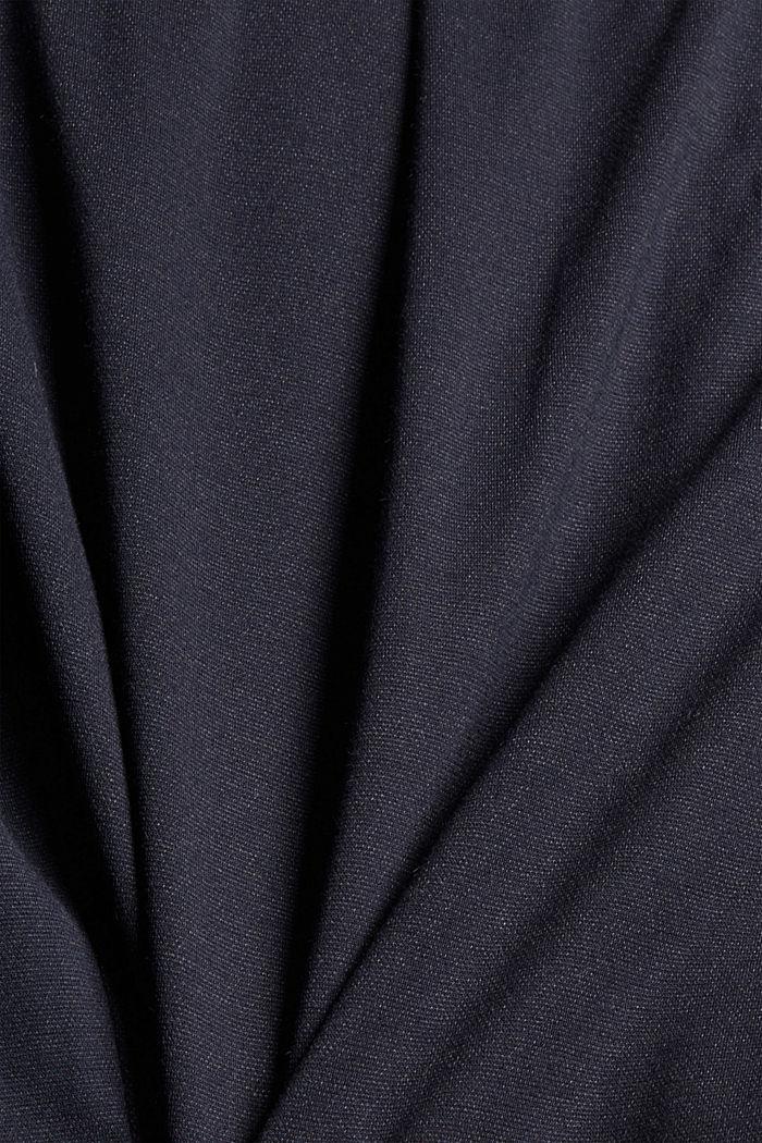 Shorts de tela con cintura elástica, NAVY, detail image number 4