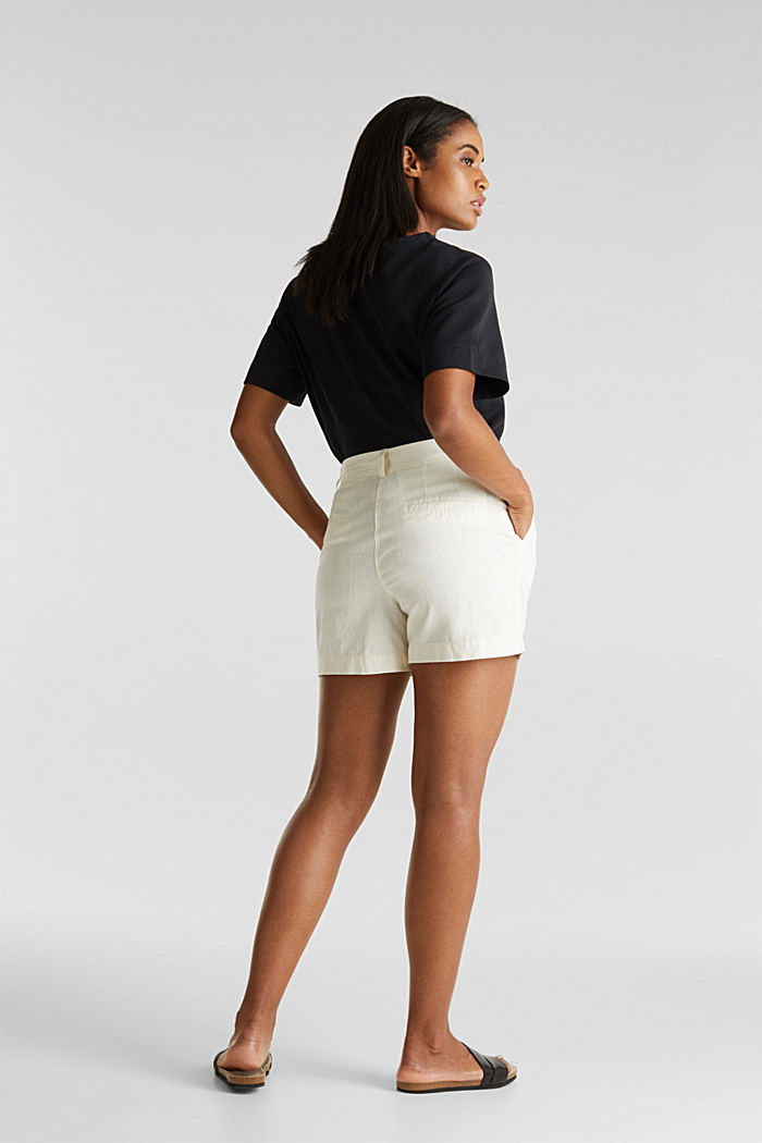 Shorts with organic cotton, OFF WHITE, detail image number 3