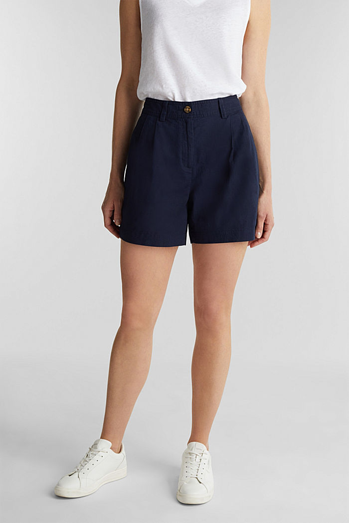 Shorts with organic cotton, NAVY, detail image number 0