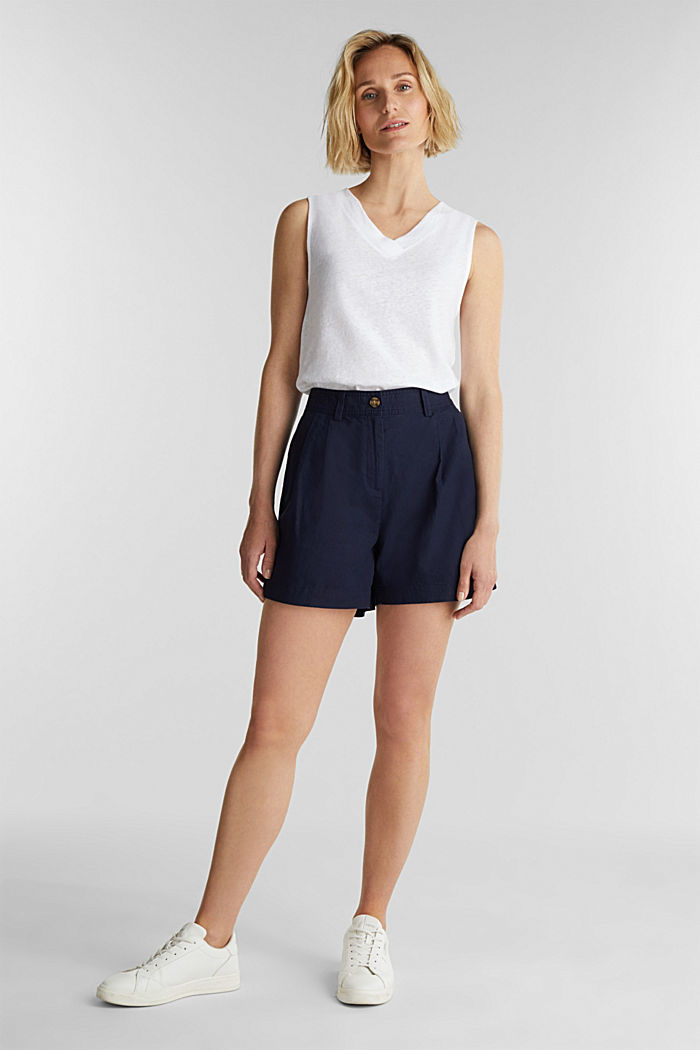 Shorts with organic cotton, NAVY, detail image number 6