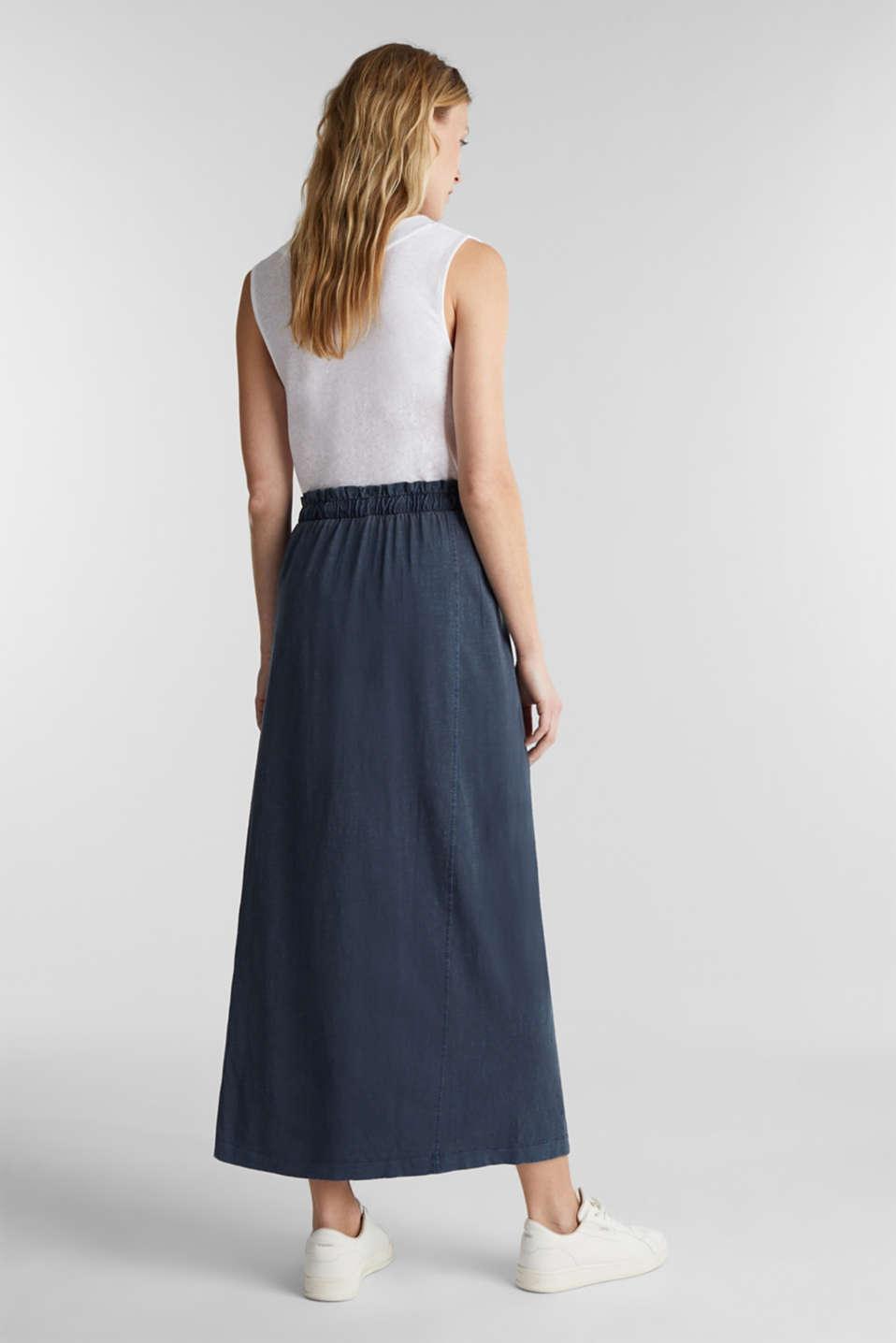 Jersey maxi skirt, 100% organic cotton, NAVY, detail image number 3
