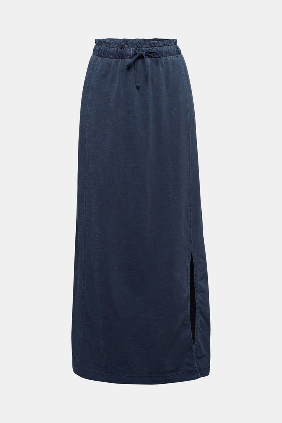 Jersey maxi skirt, 100% organic cotton, NAVY, detail image number 5