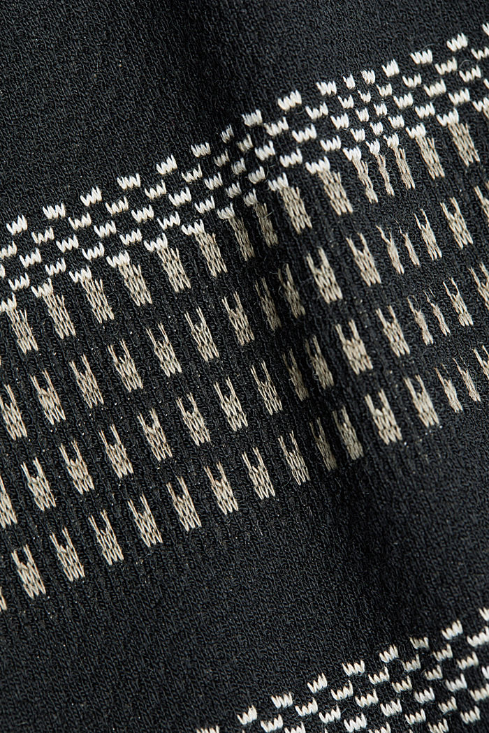 Jersey mini skirt with a striped pattern, BLACK, detail image number 4