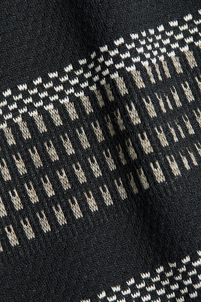 Jersey-Mini-Rock mit Streifen-Muster, BLACK, detail image number 4