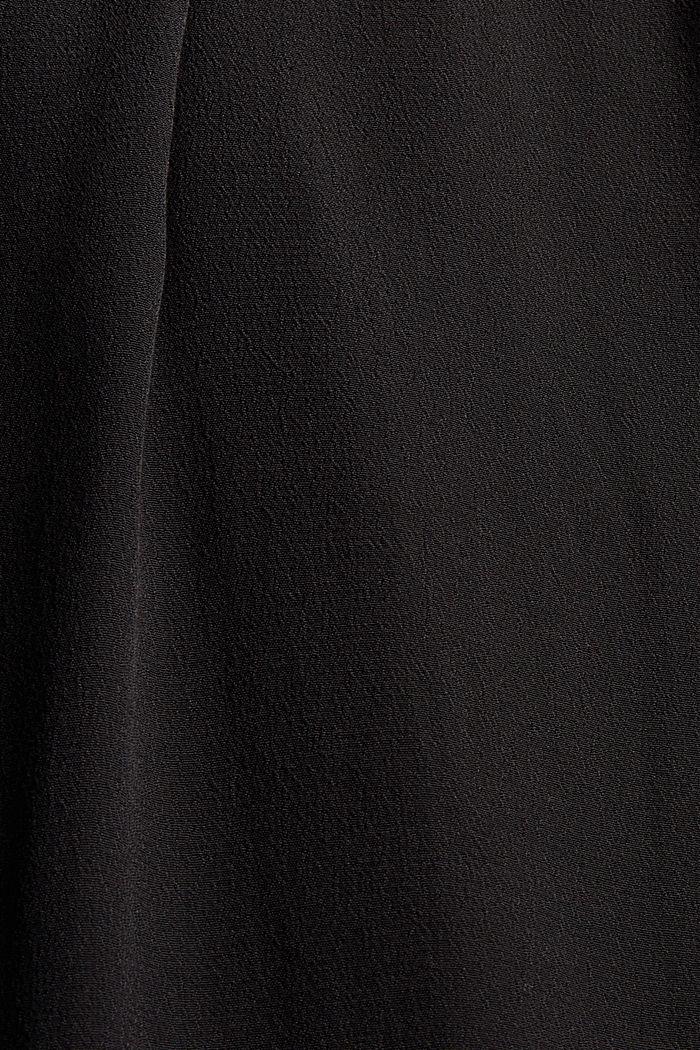 Uitlopende midi-jurk met ceintuur, BLACK, detail image number 4