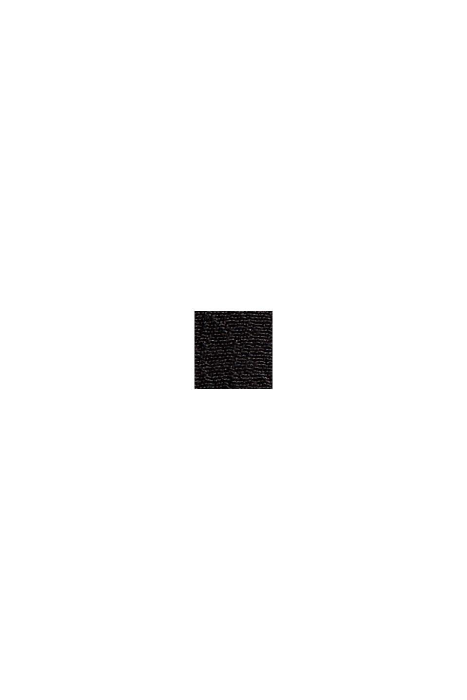 Ausgestelltes Midikleid mit Gürtel, BLACK, swatch