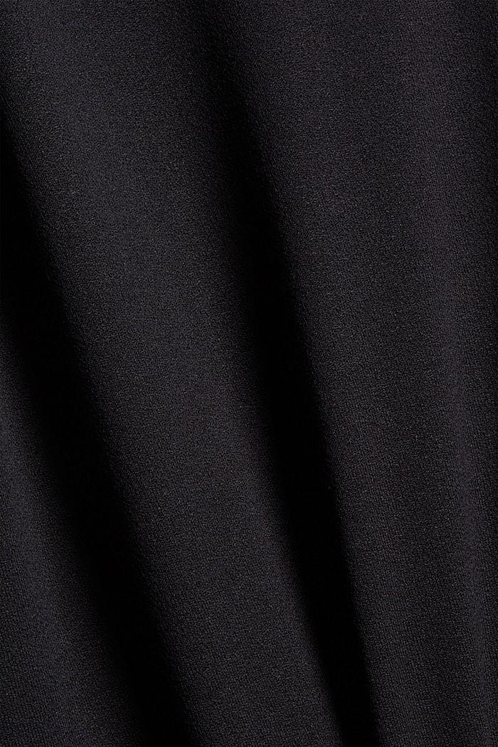 Midikleid aus fließendem Jersey, BLACK, detail image number 4