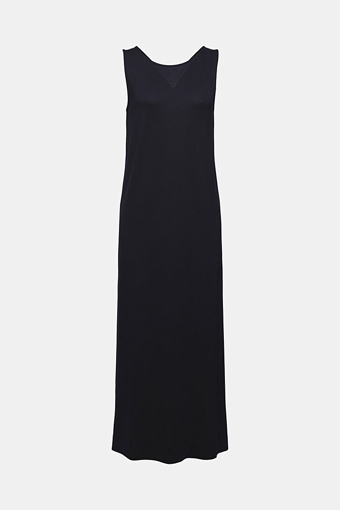 Midikleid aus fließendem Jersey, BLACK, detail image number 6