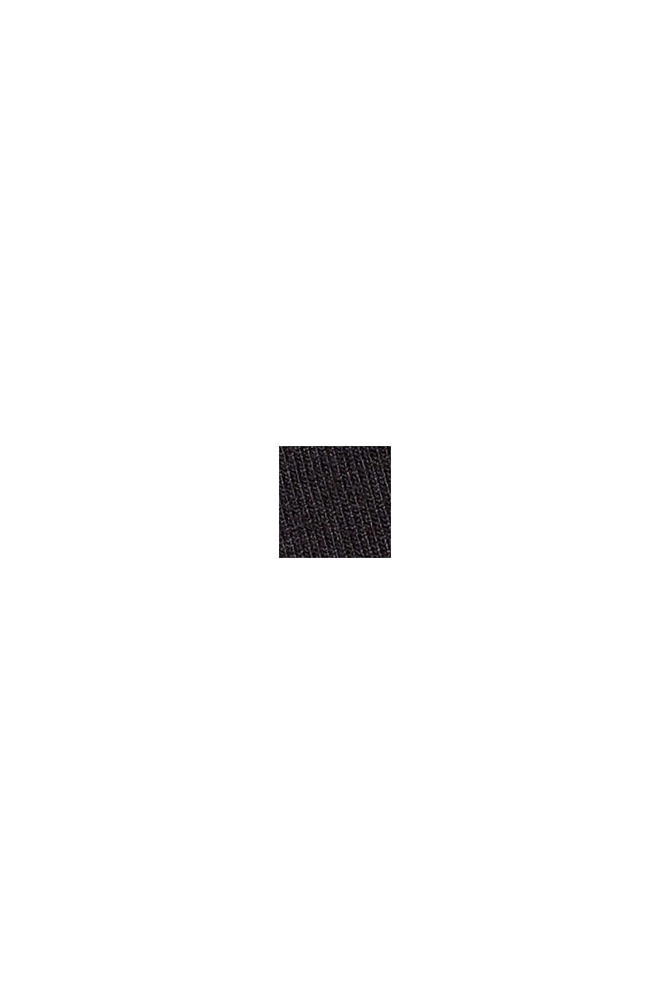 Utställd jerseyklänning i viskosmix, BLACK, swatch