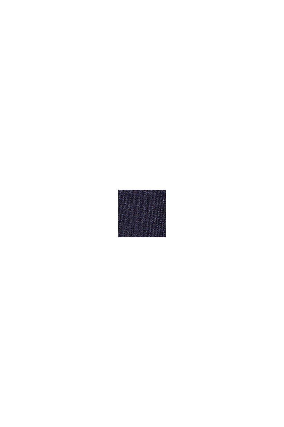 Utställd jerseyklänning i viskosmix, NAVY, swatch
